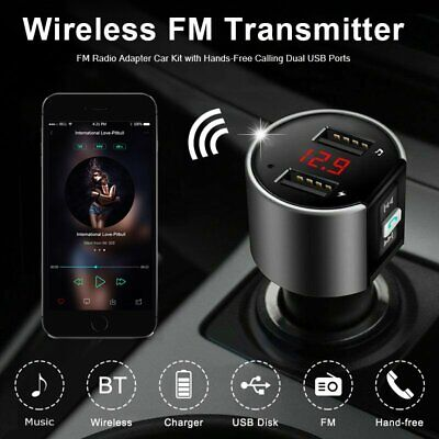 AU21.69 • Buy Bluetooth Car Kit MP3 Player FM Transmitter Audio USB Charger For IPhone Samsung