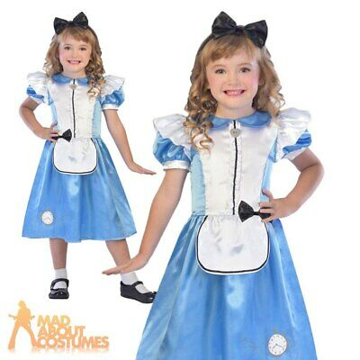 Girls Alice Costume Wonderland Kids Childs Book Week Day Fancy Dress Outfit • 9.99£