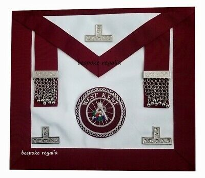 Masonic Regalia-CRAFT PROVINCIAL STEWARDS APRON WITH FITTED BADGE (ANY PROVINCE) • 39.99£
