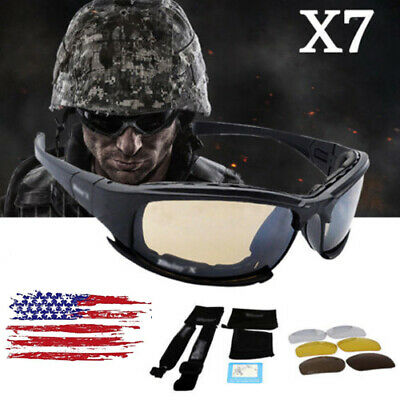 d1aa94717a Daisy X7 UVA UVB Tactical Military Style Glasses Goggles Motorcycle  Sunglasses • 12.75