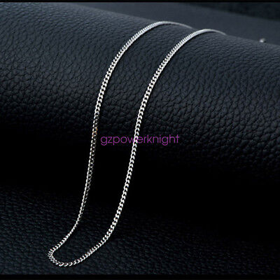 £9.99 • Buy NEW 925 Sterling Silver 16 18 20 22 24   Inch Curb Chain Link Necklace 1.2mm
