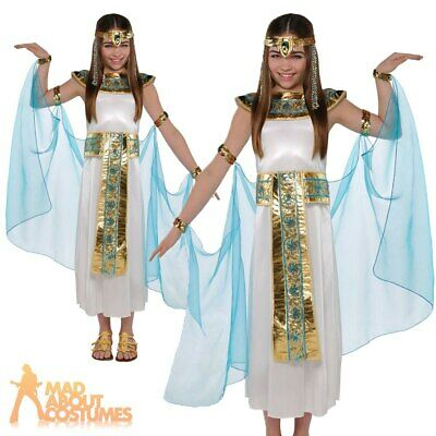 £16.99 • Buy Girls Cleopatra Costume Kids Egyptian Queen Toga Fancy Dress Book Week Outfit