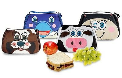 Kids Freezable Insulated Lunch Box Snack Pets School Picnic Travel Placemat Bag • 10.99£