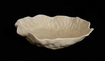 £14.95 • Buy Vintage White Majolica Cabbage Leaf Dish Bowl CRACKED