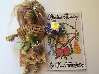 Handfasting Gift Kitchen Witch Good Luck Amulet Traditional Rustic Wedding Gift • 5.10£