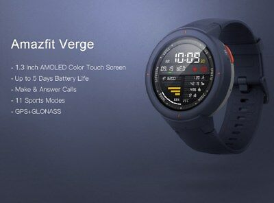 "View Details Xiaomi Amazfit Verge 1.3"" Amoled GPS IP68 Waterproof Sports Smart Watch English • 157.00£"