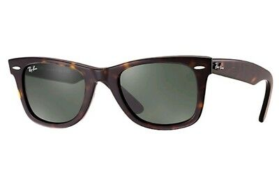 3444d3961a86f Ray-Ban Original WAYFARER Dark Tortoise Black Sunglasses RB 2140 902 Frame  50mm •