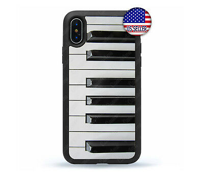 £7.77 • Buy IPhone 11 Pro Max Xs XR 8 Plus 7 Rubber Case Cover Elegant Piano Music Keyboard