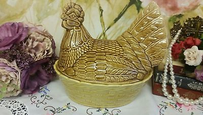 Brown Hen On Nest Egg Storage Pot • 20£