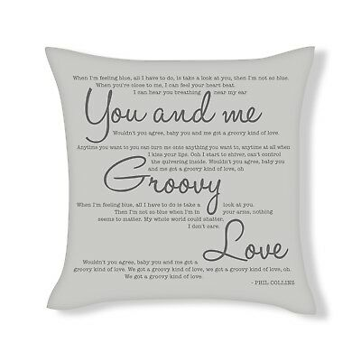 Groovy Kind Of Love Song Lyrics Cushion Cover Gift (UFCU026) • 12.99£