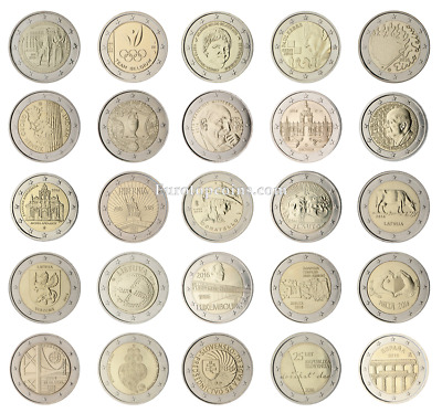 $ CDN177.83 • Buy #rm# All 2 Euro Commemorative From 2016 Unc - 25 Coins