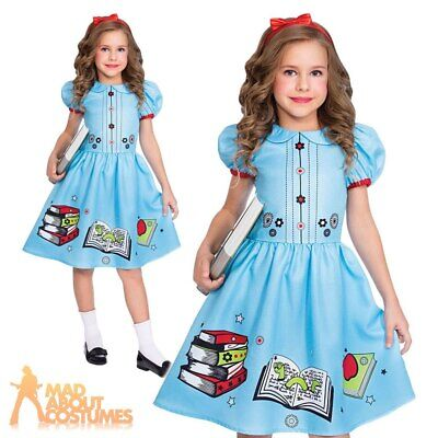Kids Clever Book Worm Costume Girls Book Week Day Fancy Dress Childs Outfit • 10.99£