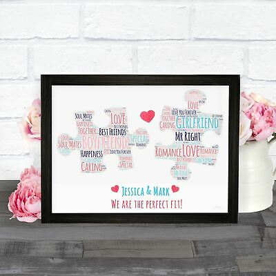 Personalised Valentines Day Girlfriend Boyfriend Husband Wife Gifts Puzzle Print • 4.49£