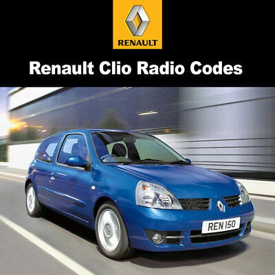 £0.99 • Buy Radio Code For Renault Clio Reset Stereo Decode Car Unlock Fast Service