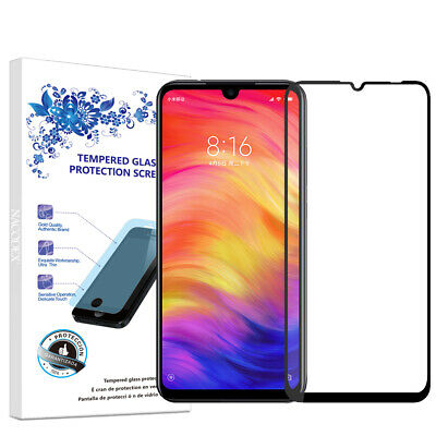 $6.13 • Buy For Xiaomi Redmi Note 7 Full Cover Tempered Glass Screen Protector -Black