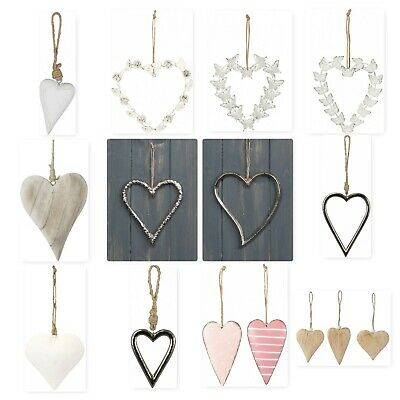 £6.99 • Buy Vintage Style Shabby & Chic Wedding Hanging Hearts Heart Home Decoration Gift
