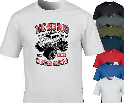 Illustrative Big-Bug Car T-Shirt Design For DUB,EURO M/F/Y Sizes 7 Colours • 8.99£