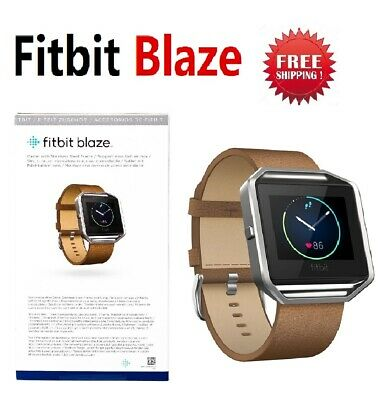$ CDN106.94 • Buy Fitbit Blaze FB502 Smart Fitness Watch Tracker Brown Camel Leather Band Large