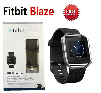 AU111.87 • Buy Fitbit BLAZE FB502 Smart Fitness Watch Smartwatch Activity Tracker Black Small