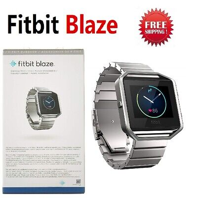 AU120.44 • Buy Fitbit Blaze FB502 Smart Fitness Watch Activity Tracker Metal Stainless Steel