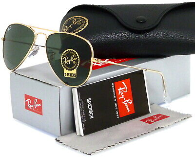 8ad13fd375 Ray-ban Small Aviator Rb3044 L0207 52mm Gold   Green Classic-15 • 94.89