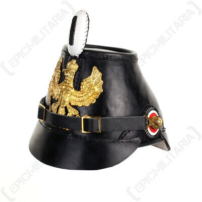 Prussian Shako Helmet - WW1 Imperial German Jager Jaeger Army Military Repro New • 109.95£