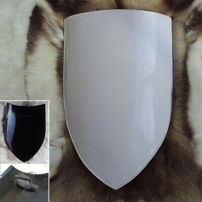 14 G Medieval Shield. White Finish Blank For Your Design. Re-enactment & LARP • 74£