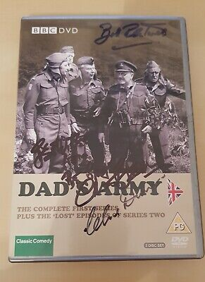 £124.99 • Buy DADS ARMY Signed DVD Insert CLIVE DUNN, BILL PERTWEE, COLIN BEAN COA