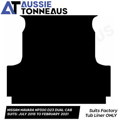AU94.99 • Buy Rubber Ute Mat For Nissan Navara Dual Cab NP300 (D23)  - Suits Tub Liner Only!
