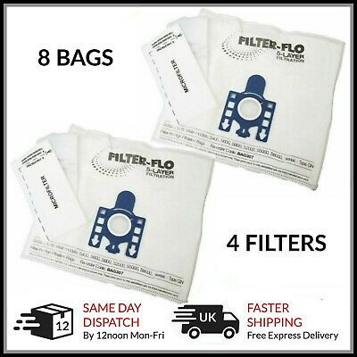 8 GN Bags For Miele Vacuum Cleaner Complete C2 C3 Cat Dog Powerline Silence • 11.99£