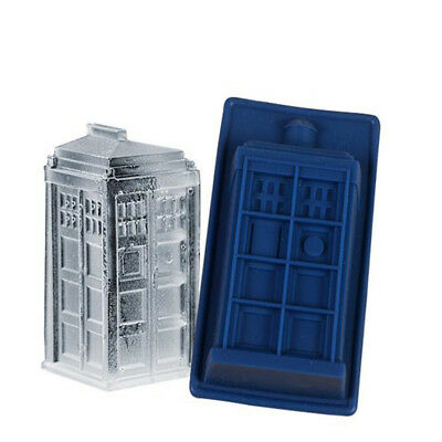 Doctor Who Tardis Silicone Mould Ice Candy Cube Tray Jello Mold DIY Baking Tool • 9.99£