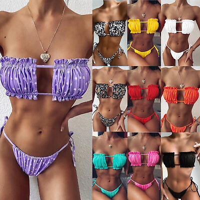 $ CDN16.96 • Buy New Brazilian Bikini Swimsuit Women Swimwear Triangle 2 Piece Bra Set Beach Suit