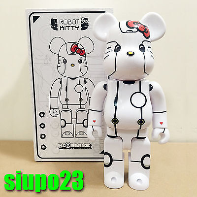 $199.99 • Buy Medicom 400% Bearbrick ~ Action City Hello Kitty Be@rbrick Robot Kitty White Ver