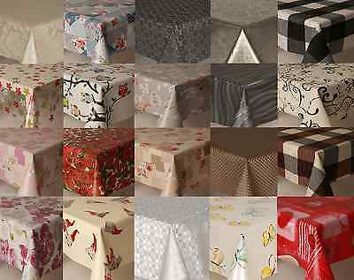 All Occasions Pvc Plastic Vinyl Table Cloth Cover Vintage Plain Printed Floral • 6.65£