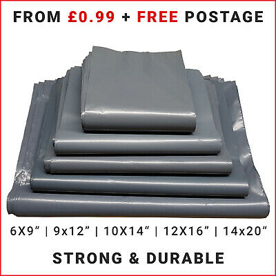 £2.49 • Buy Strong Grey Packaging Poly Bags Self Seal Parcel Packing Mailing Postage Bag