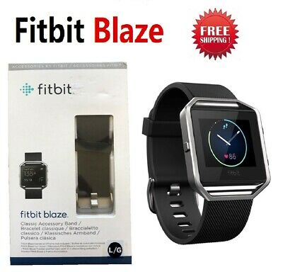 AU110.94 • Buy Fitbit Blaze Smart Fitness Watch Activity Tracker Black Classic Large FB502