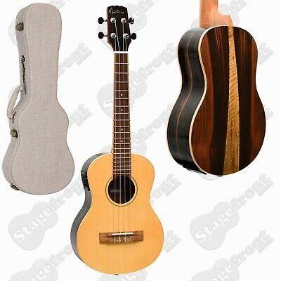 AU289 • Buy Martinez Tenor Ukulele Solid Spruce Top Acoustic Electric With Hard Case
