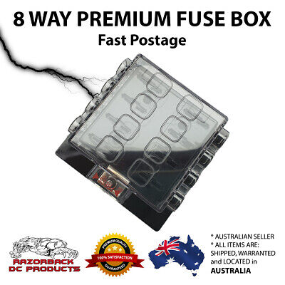 AU21.95 • Buy 8 Way Quality Blade Fuse Box Block Holder Fuse Included For Car Boat 6/12/24V