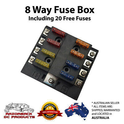 AU20.95 • Buy 8 Way Quality Blade Fuse Box Block Holder Fuse Included For Car Boat 6/12/24V*