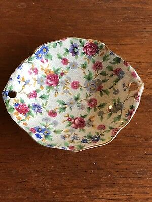 $ CDN29.01 • Buy Vintage Royal Winton Grimwades Chintz Oval Sweets Dish -  Old Cottage Chintz