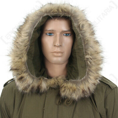 $31.68 • Buy US M51 Parka Hood With Faux Fur - Olive Drab America Army Military Repro New