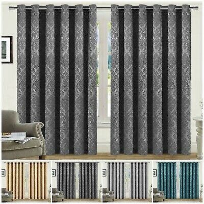 £44.99 • Buy Extra Wide Blackout Eyelet Curtains Ready Made Ring Top Thermal Curtains Pair