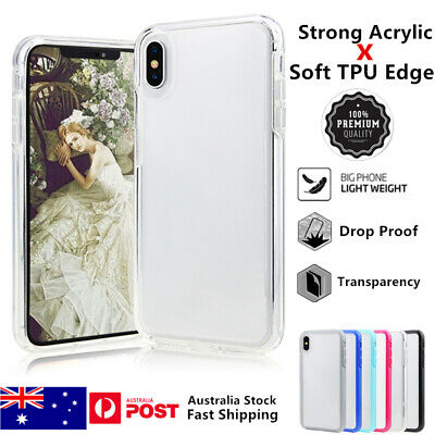 AU9.29 • Buy  Transparent Clear Ultra-Thin Drop Proof Soft Edge Case Cover For IPhone X R Max