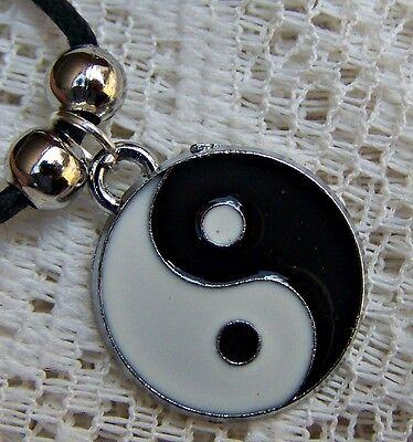 AU5 • Buy Enamelled ~ Plated  ~ Ying_yang ~  Necklace -- (great_gift)