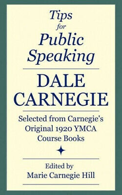 AU32.13 • Buy Tips For Public Speaking: Selected From Carnegie's Original 1920 YMCA Course