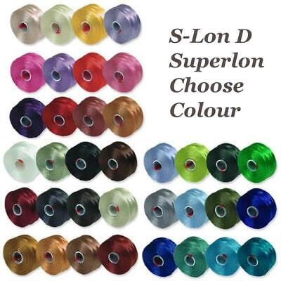 £1.99 • Buy Superlon S-Lon Beading Thread Cord Size D Tex 45 0.11mm Choose From 36 Colours
