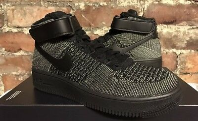 lowest price a3131 eb107 Nike Air Force 1 Ultra Flyknit Mid Uk6 Eur40 Us7 Palmera Verde Negro 817420  301 •