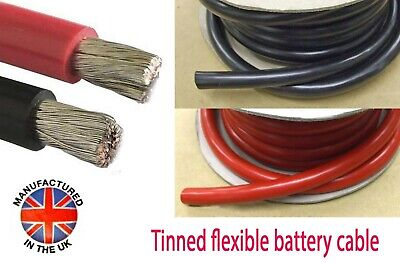OCEANFLEX TINNED Battery Cable 50mm²/345amp (0AWG) MADE IN THE UK  BAT345xxxTIN • 18.80£