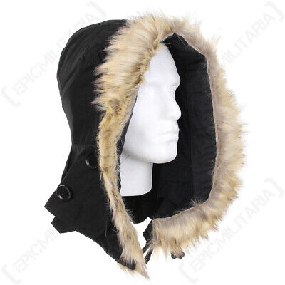$32.89 • Buy US M51 Parka Hood With Faux Fur - Black America Army Military Repro New
