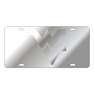 $ CDN30.17 • Buy WVU WEST VIRGINIA Mountaineers Satin Silver Mirrored License Plate / Car Tag